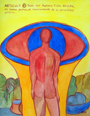 UDHR Article 6 painting