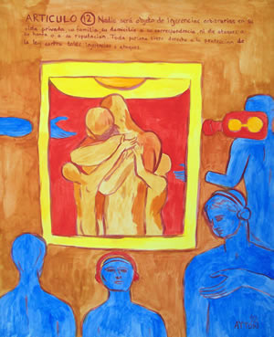 UDHR Article 12 painting