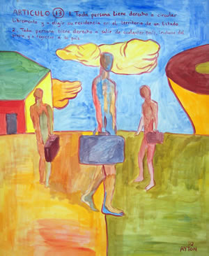 UDHR Article 13 painting