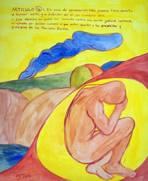 UDHR Article 14 painting