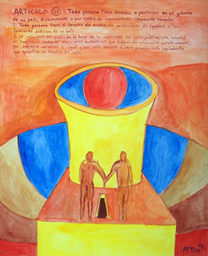 UDHR Article 21 painting