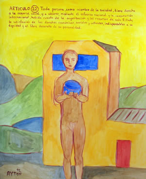 UDHR Article 22 painting