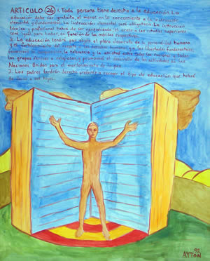 UDHR Article 26 painting
