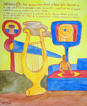 UDHR Article 27 painting